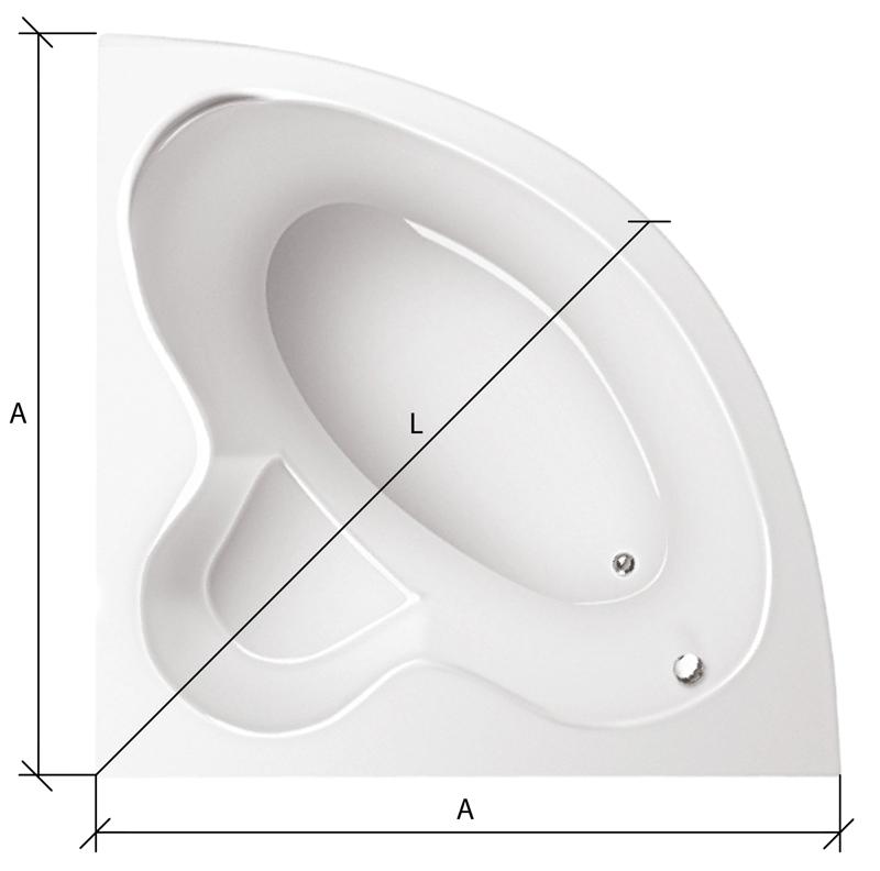 ванны Схема замера карниза